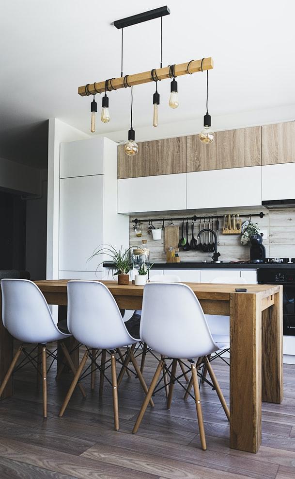 Kitchen decor improvements using wood accents